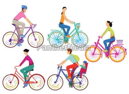 eine gruppe von radfahrer