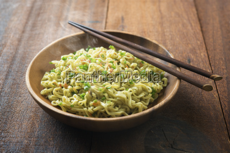 delicious asian dried ramen noodles