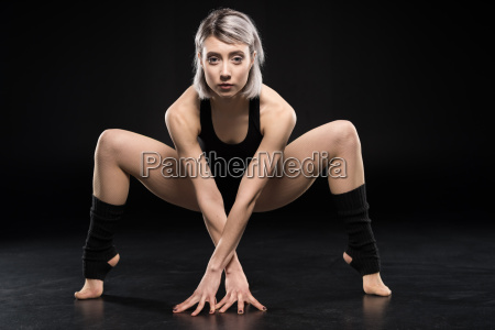 attractive young woman contemporary dancer posing
