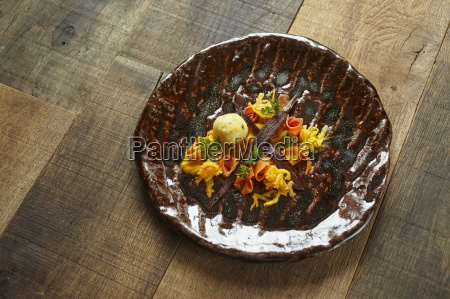 variations on carrots as an appetiser