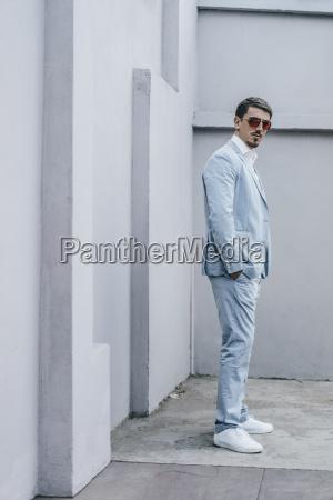 portrait of confident businessman wearing sunglasses