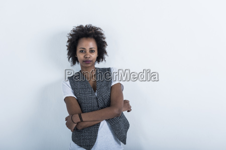 portrait of woman with arms crossed