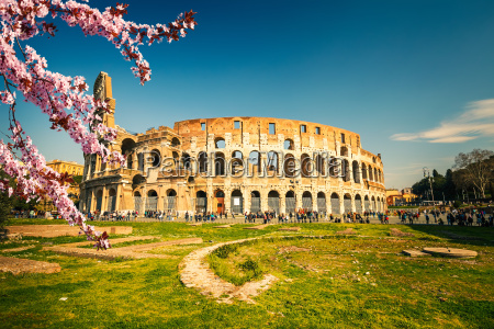 colosseum at spring