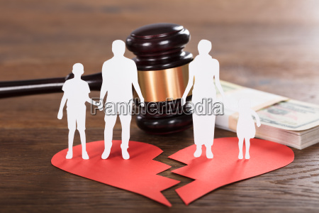 divorce concept on wooden desk
