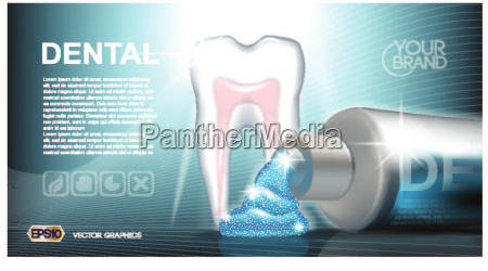 digital vector blue medicine toothpaste
