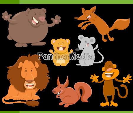cute animal characters set