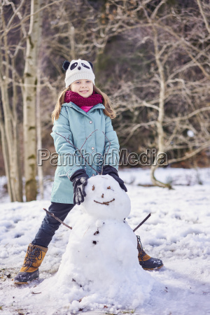 portrait of smiling girl with a