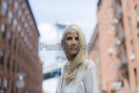usa brooklyn dumbo portrait of mature