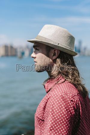 usa new york city man wearing