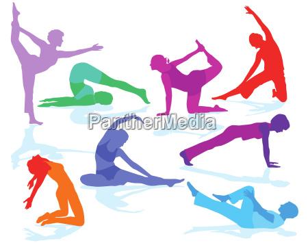 gymnastik figuren und fitness training