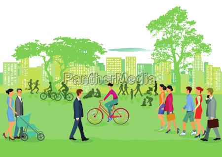 menschen in der freizeit im park