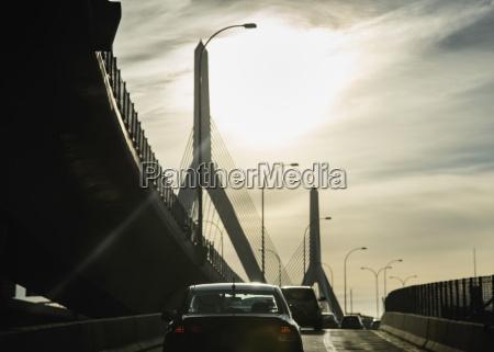 usa massachusetts boston traffic on ramp