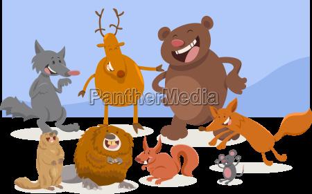 wild cartoon animal characters