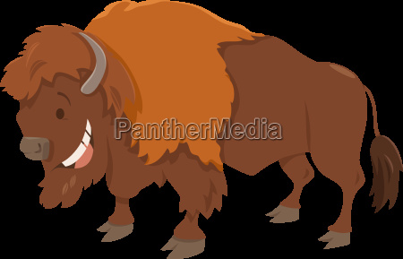 bison cartoon animal character