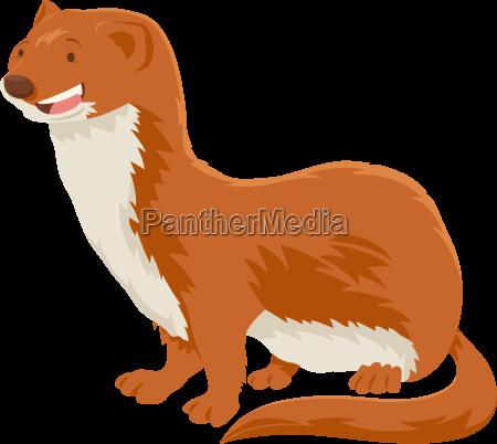 weasel cartoon animal character