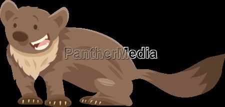 marten cartoon animal character