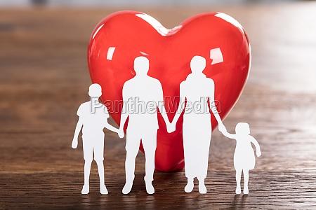 family health concept on wooden desk
