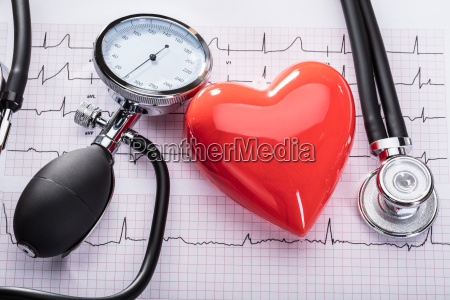cardiogram of heart beat and medical