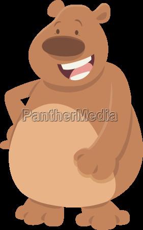 comics bear animal character