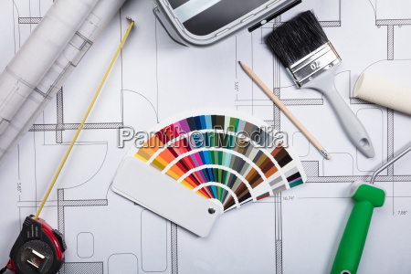 color guide swatch on blueprints