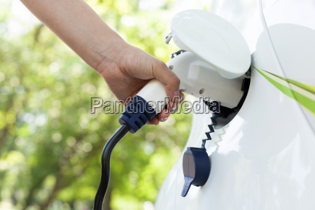 hand holding an electric plug in