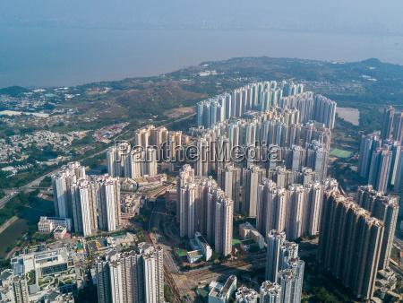 top view of skyline in hong