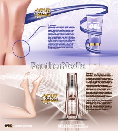 digital vector blue violet anti cellulite