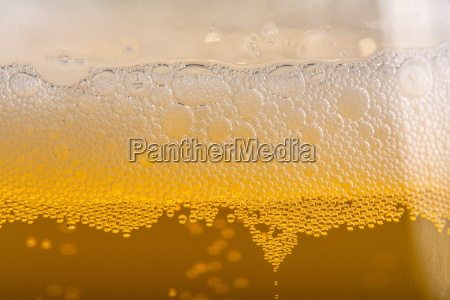 extreme close up of a beer