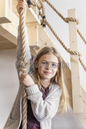 portrait of girl in childrens room