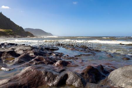 rock pools on the dramatic coastline