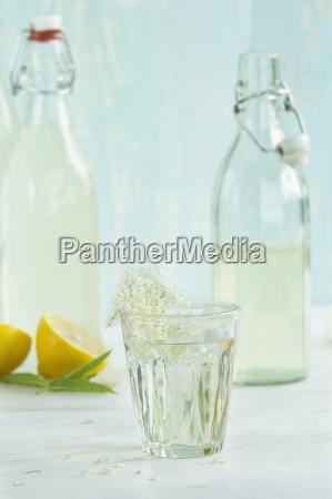 glass of homemade elderflower sirup