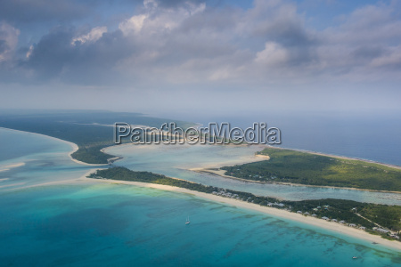 aerial of ouvea loyalty islands new