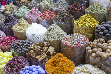view of colourful and exotic spices