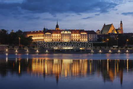 poland warsaw royal castle and old